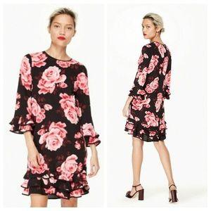 Kate Spade Rambling Roses Ruffle Shift Dress